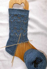 Upside-down Sock in Progress