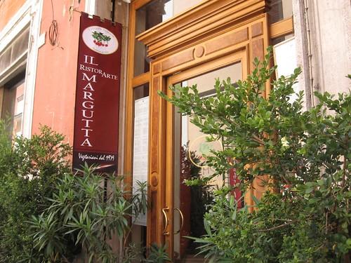 Il Margutta, un restaurante vegetariano en Roma