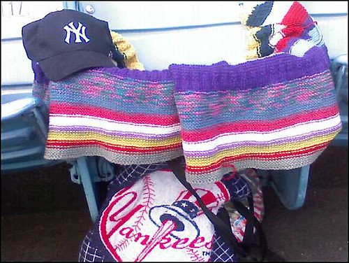 Oddball Blanket #3 had a Seat at a Yankee's Game!