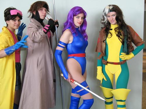 Jubilee, Gambit, Psylocke, Rogue