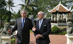 US President Hon. George W. Bush and Australia's Prime Minister John Howard (oghab_e_iran  ) Tags: usa newyork love freedom virginia dc washington bush war peace unitedstates mr iran god islam iraq great sydney mother terrorist australia tehran  luray bless      haward          amrica  khomeini   zeyneb sepah                semocracy