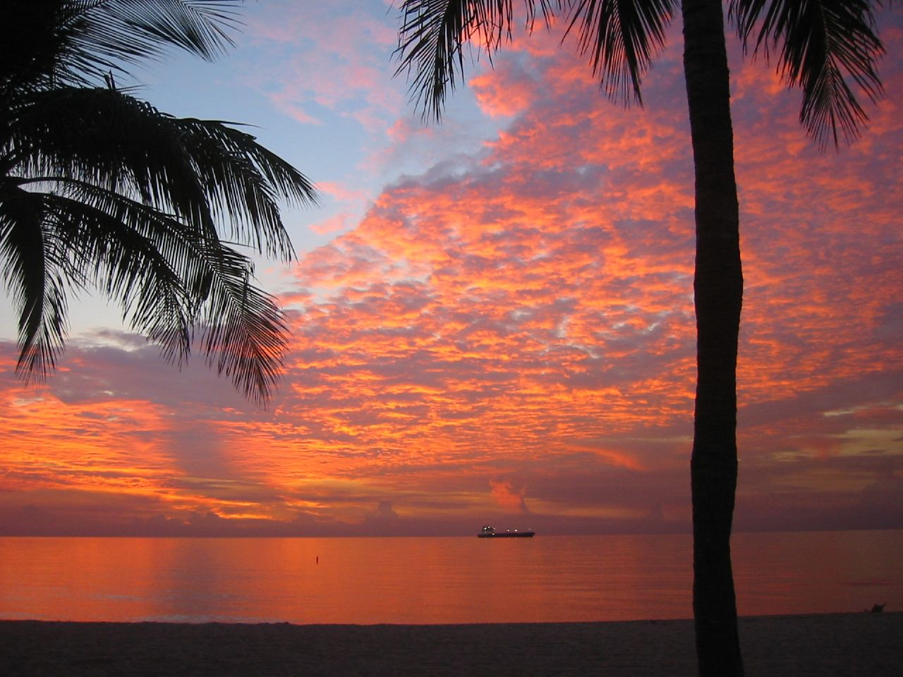 Sunrise on Fort Lauderdale Beach July, 2008