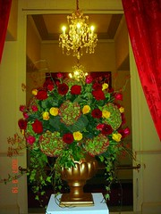 Urn arrangement (Ken Marten) Tags: flowers london fruit design indian cartier opulent floristry londonfashionweek stjamess lancasterhouse kenmarten londonflorist