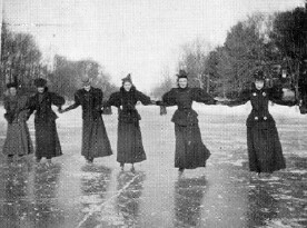 Skating on Sunset Lake, 1898
