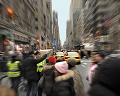 Zooming in 5th Avenue - Manhattan (angelocesare) Tags: nyc blue sky people ny newyork colors colours colore afternoon gente manhattan crowd 5thavenue cielo fifthavenue azzurro colori zooming pomeriggio folla zoomare angeloamboldiphotos