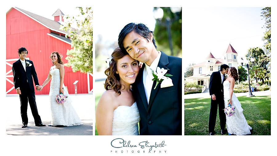 Camarillo Ranch House bride and groom wedding portrait