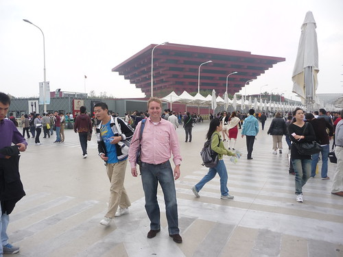 Marc next to China Pavilion