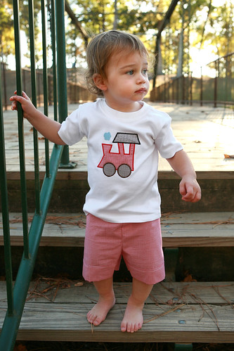 Train Tee & Shorts Set