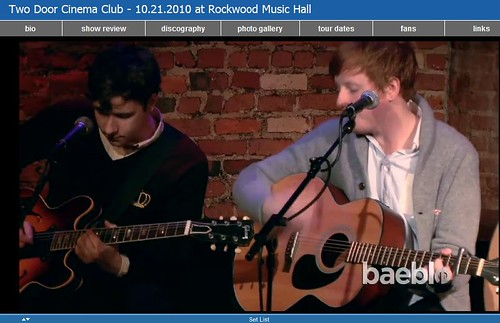 Two Door Cinema Club - 10.21.2010 at Rockwood Music Hall