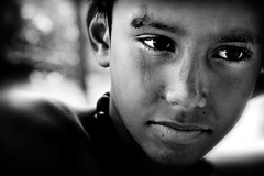 Day dreamer... (carf) Tags: poverty boy brazil bw boys brasil kids children relax hope blackwhite kid community education support peace child risk dream relaxing peaceful esperana social impoverished underprivileged altruism dreaming thoughts thinking educational relaxation development prevention soe atrisk mundouno cleison