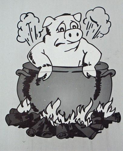 The unhappy pig