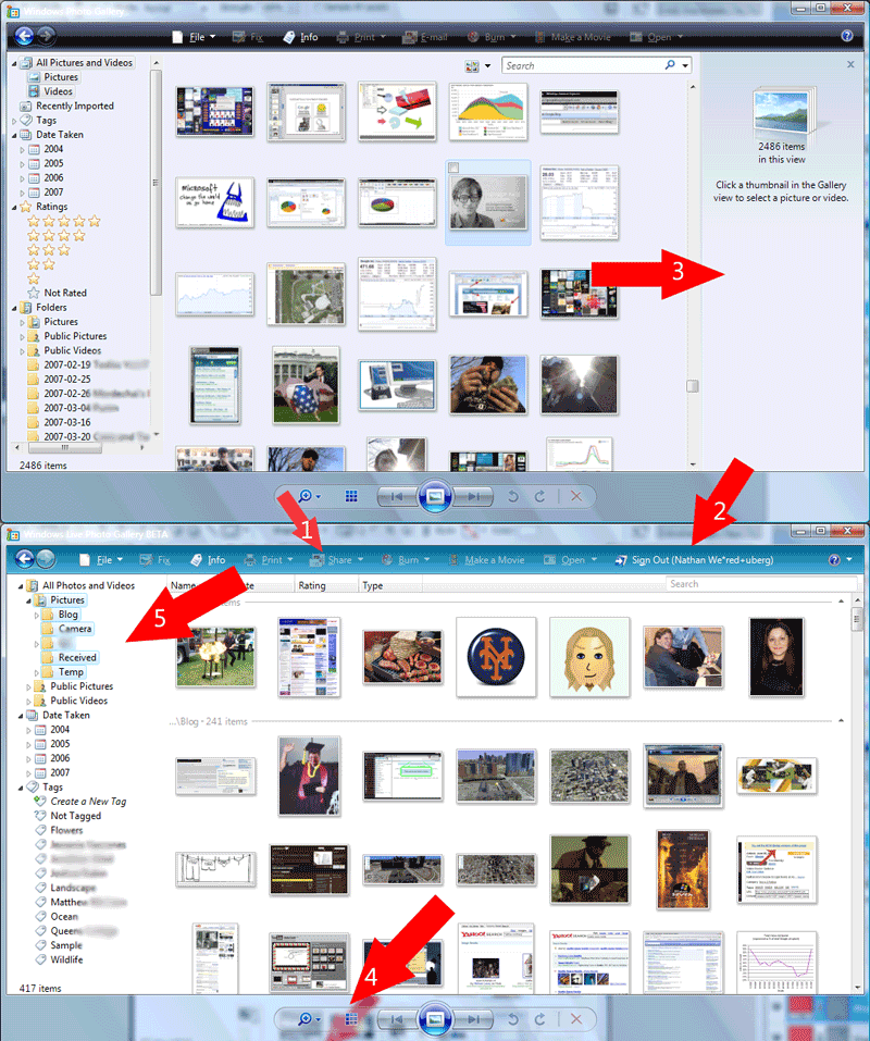 Windows Live Photo Gallery vs Windows Vista Photo Gallery