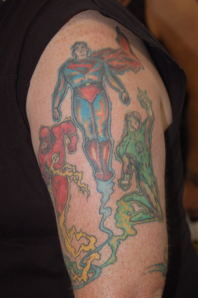 I had not noticed that many comic book themed tattoos before.