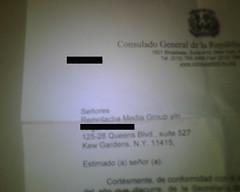 Me mandaron una carta