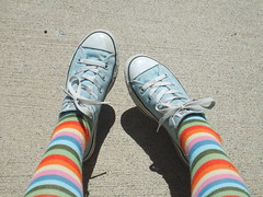 Chucks (Polka Dot Princess) Tags: blue light socks converse taylor chuck knee allstar chucks stripy