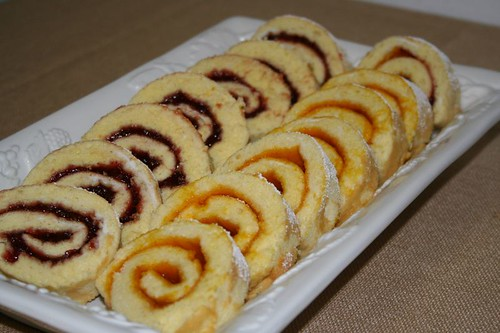 Jam Rolls, finished