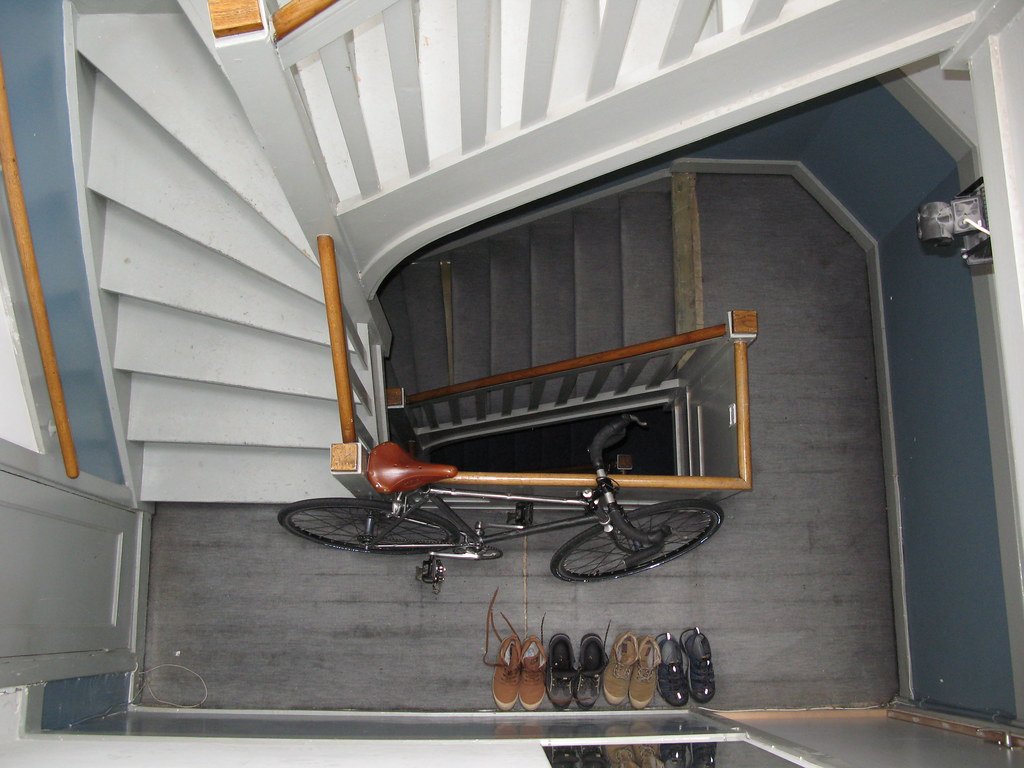 Trappenhuis/Stairs, bike & shoes. Amsterdam, Netherlands.
