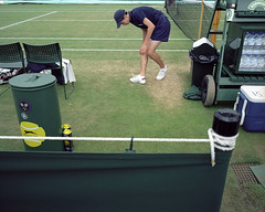 Wimbledon, London, UK (whileseated) Tags: uk boy green london public grass ball bottledwater tennis wimbledon robinson mamiya7 mamiya7ii fbmeantime
