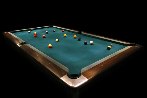 Flashlight Lit Pool Game