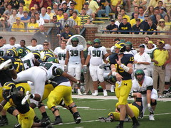 Tackle (bekahlp) Tags: oregon football michigan annarbor bighouse tackle universityofmichigan wolverines big10 goblue maizeandblue