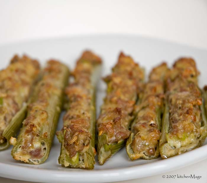 sausage stuffed lovage