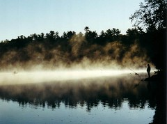Walden Pond Sunrise (Storm Crypt) Tags: morning sunrise ma fishing pond shore concord waldenpond massachussetts perfectangle