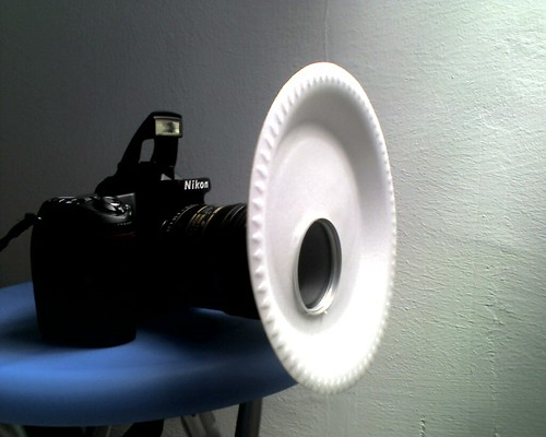 Macro diffuser for pop up flash