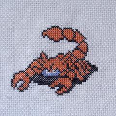 Scorpion (benjibot) Tags: crossstitch crafts videogames crop nes dragonwarrior reshoot