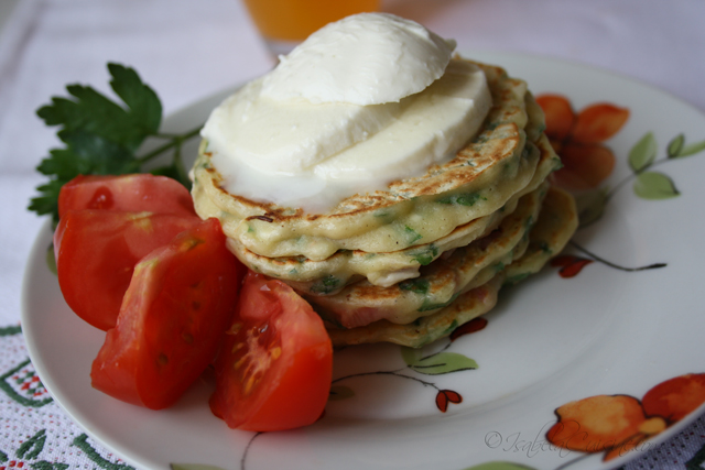 Bacon & parsley Pancakes