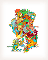 Nike Believe (Bicicleta Sem Freio) Tags: brazil woman bird art colors animal brasil pen pencil ball stars foot star design colorful samba arte drawing soccer estrela tshirt bicicleta nike believe sem carnaval draw bola brand tee ilustrao ilustration desenho papagaio cbf tucano ilustrations freio bicicletasemfreio