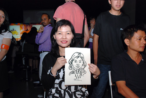 caricature live sketching for SDN First Anniversary Bash - 11