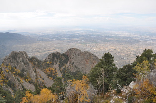 Southwest from Sandia Crest