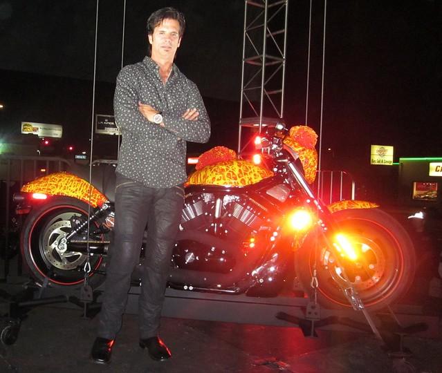 Lorenzo Lamas, Cosmic Starship Harley Davidson, Bartels Harley Marina Del Rey