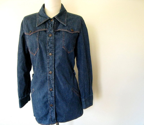 Cotton Denim Shirt, vintage 70's