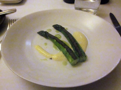 Coi - San Francisco - May 2011 -Asparagus, Seaweed Powder, Fermented Anchovy Paste