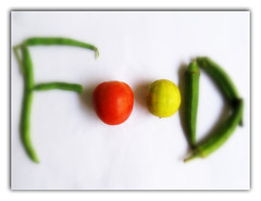 Food ($udhakar) Tags: red food green yellow beans lemon colorful experimental contest picasa f softfocus lime okra multicolor ladyfinger tomoto canona520 bhendi chandamama bsbfood