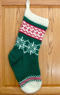 Christmas Stocking Knitting Pattern Ravelry : Ravelry: Fair Isle Christmas Stocking pattern by Denise ...