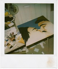 july 14th (_micaela) Tags: mike painting polaroid jen unfinished gouche 779 anniversarypresent slr680se fuckinmessy