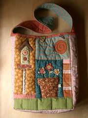 SpringTime Bag 2 (PatchworkPottery) Tags: bag quilt handmade sewing crafts country quilted patchwork handbag