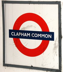 Clapham Common Tube sign