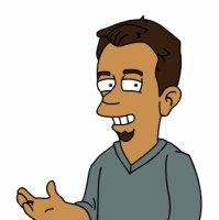 René als Simpson
