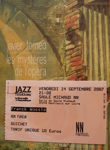 Frank Woeste Trio à Montlouis, super position