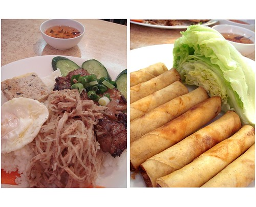 Vietnamese 4 colour rice & spring roll @ Market Square