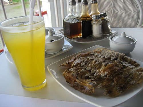 crispy fish and the special dalandan juice