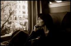 Portrait (on a train) (ZoSo74) Tags: portrait bw film window analog train 35mm kodak tx trix hc110 400tx finestra 400 kodaktrix ritratto treno olympus35rc pellicola realphotograph analogico 42mm kodakhc110 autaut film:iso=400 film:brand=kodak blackwhiteportfolio kodaktrix400400tx film:name=kodaktrix400 developer:brand=kodak developer:name=kodakhc110 zuiko42mmf28 kodakhc110dilb13165min filmdev:recipe=8583