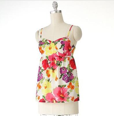 Lauren Conrad floral Babydoll top