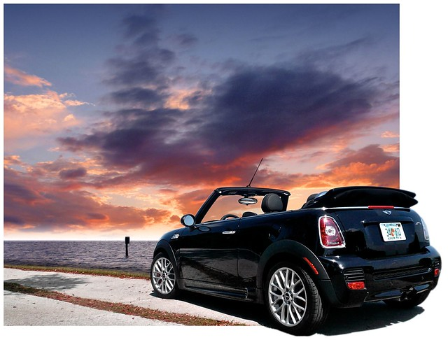 auto sea sky black cars sports car john noir florida deluxe convertible mini voiture exotic cooper works elliot jcw