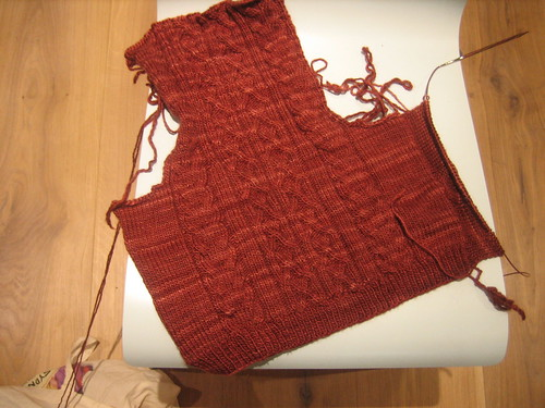 cabled waistcoat