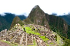 Machu Picchu, Peru - December 2009 (alschim) Tags: world old city travel vacation sky cloud mist mountain building history tourism peru rock machu picchu inca stone architecture america wonder landscape lost reisen ancient ruins terrace cusco south famous ruin culture landmark tourist historic ridge pichu american valley andes destination civilization walls pe archaeological archeology macchu precolumbian urubamba peruvian incan tiltshift southamerika suedamerika d700 tiltshiftmaker wwwalschimde