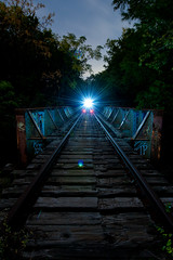 Uh oh! (TxPilot) Tags: longexposure railroad bridge light lightpainting art night train painting photography lights graffiti star nikon long exposure paint bright tracks led fullmoon lap lighttrails movinglights lightgraffiti starburst lightpaint lightemittingdiode d700 lightgraf lightartphotography